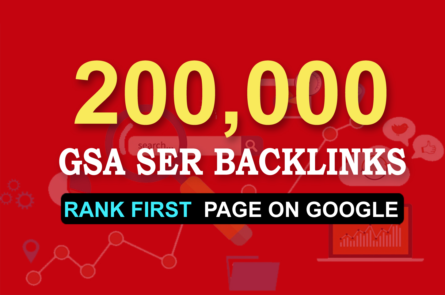 200,000 GSA SEO Permanent Backlinks Guaranteed Ranking