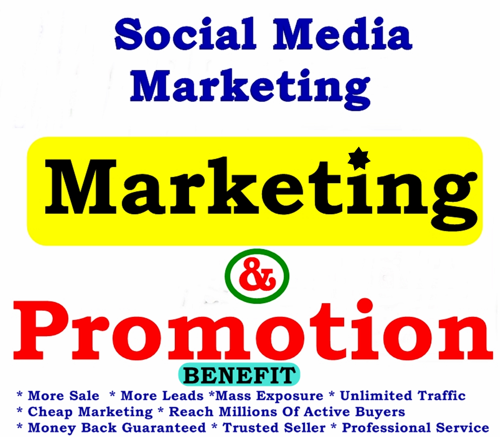 Massive PROMOTION and Marketing - Cheap Complete Social Media Over 3,000,000 OR 5,000,000