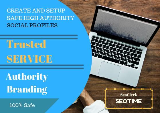 Help to Rank on Google,  Create and Setup 35 Safe High Authority Homepage Profile Backlinks
