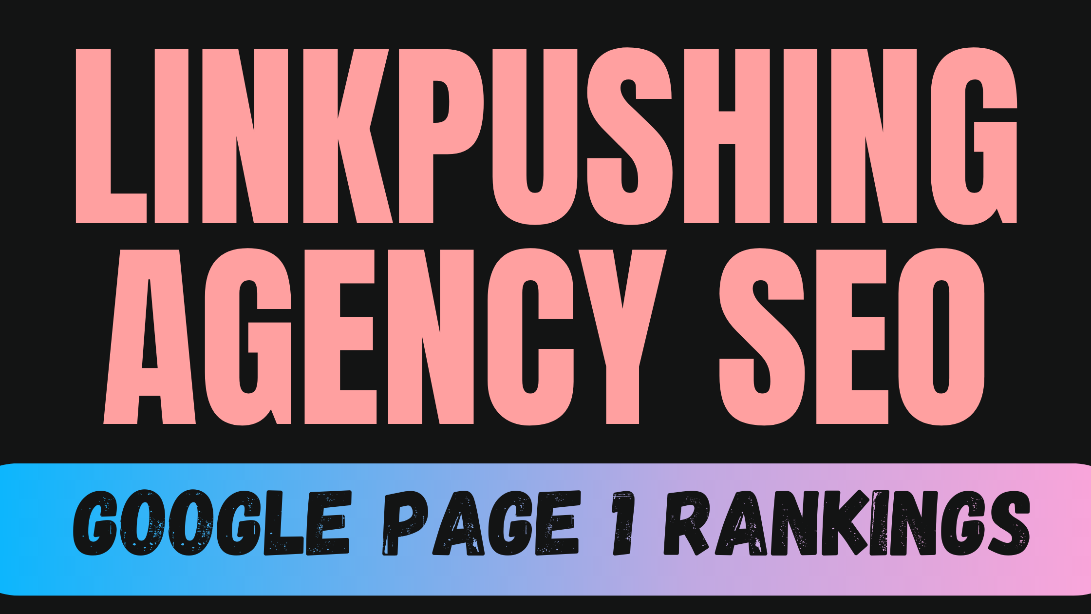 Linkpushing AGENCY SEO 2 Weeks Results Guaranteed OR Refund