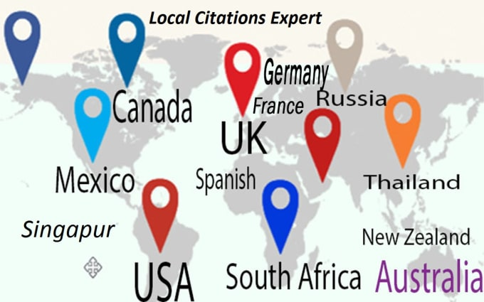I will do 30 USA, UK, CA,  AUS Citation for local SEO,  Local Listing Google Ranking Links