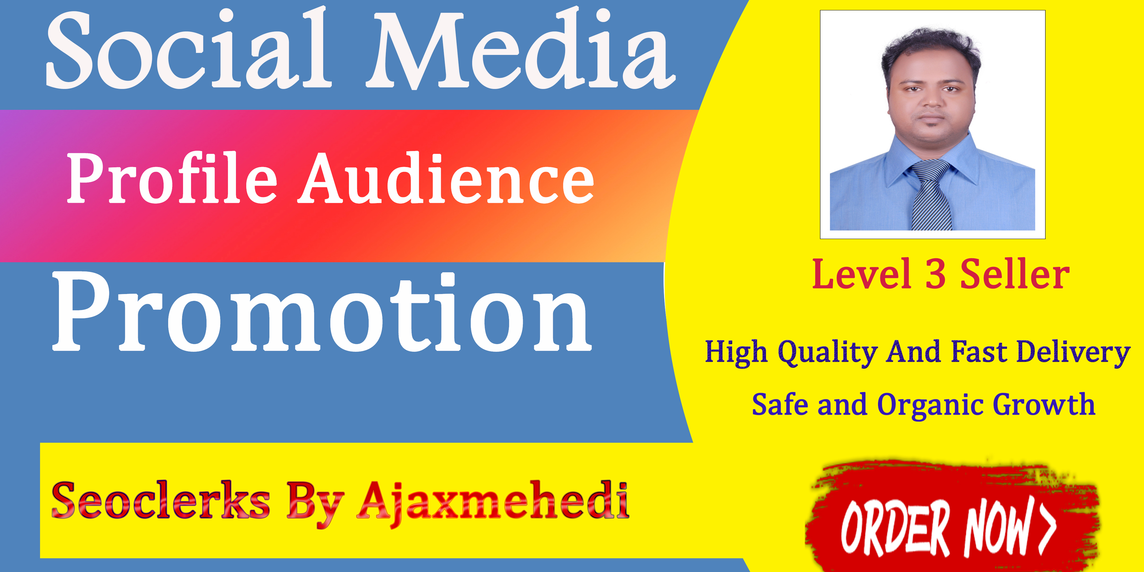 Genuine And Real Social-Media Profile Audience Boost Advertisement