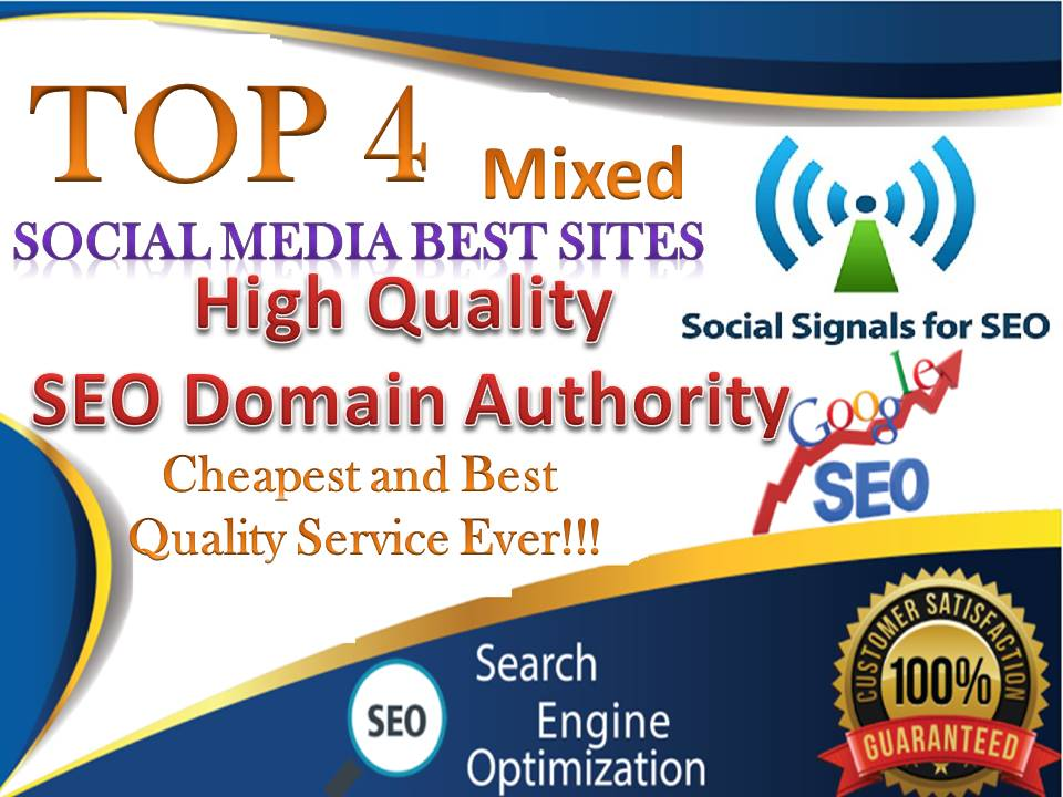 TOP No4 Social Media Best Sites 4,000+ Mixed Seo Social Signals Bookmarks Important Google Ranking