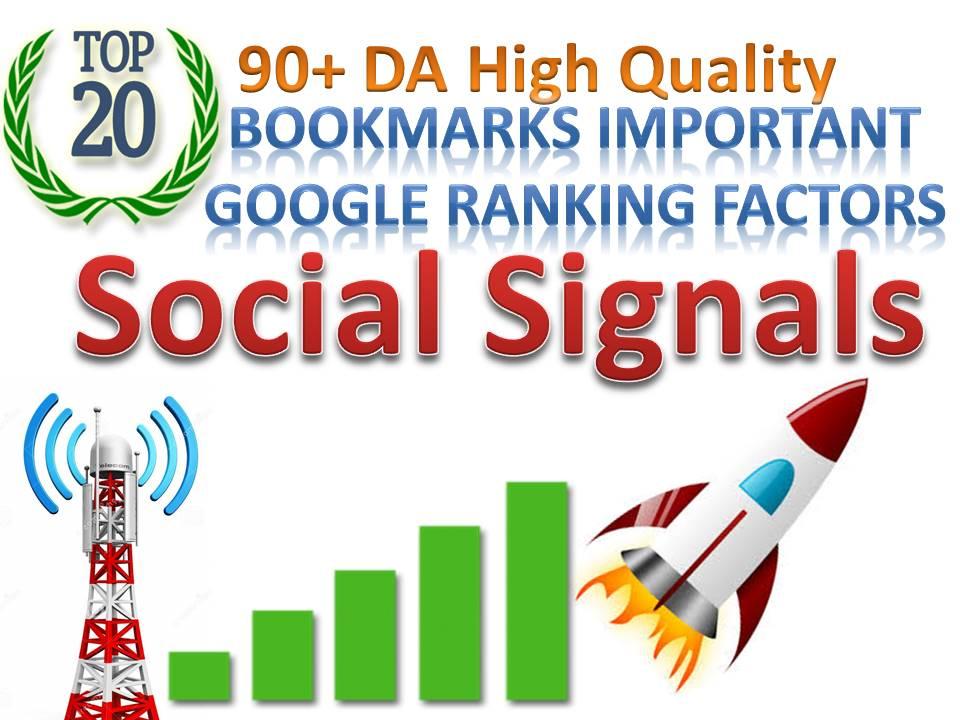 TOP 20 Sites Social Media Best Sites 40,440+ Mixed Social Signals Bookmarks Important Google Ranking