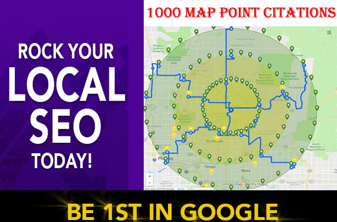 I will do 1000 google map point citations for any country any locations