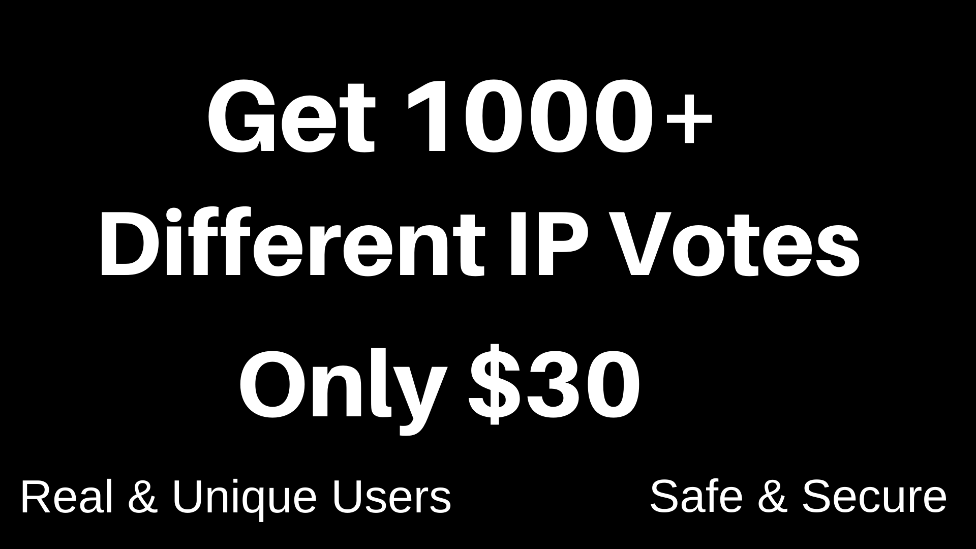 Discount Price Get 1,000+ Different IP Votes For Your online Voting Contest Contestant