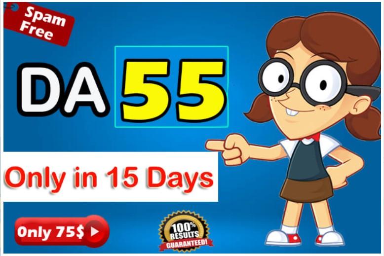 Increase MOZ Domain Authority DA 55 in 15 days