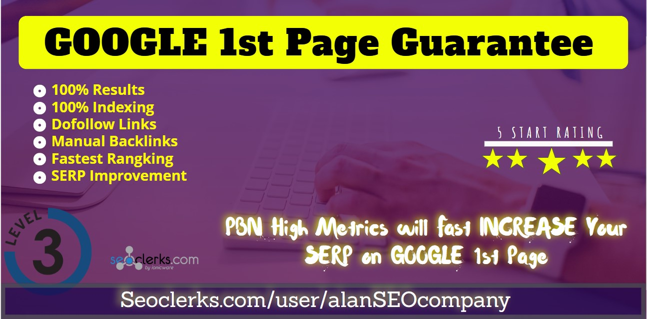 Rank your Website 1st Page of GOOGLE Monthly SEO