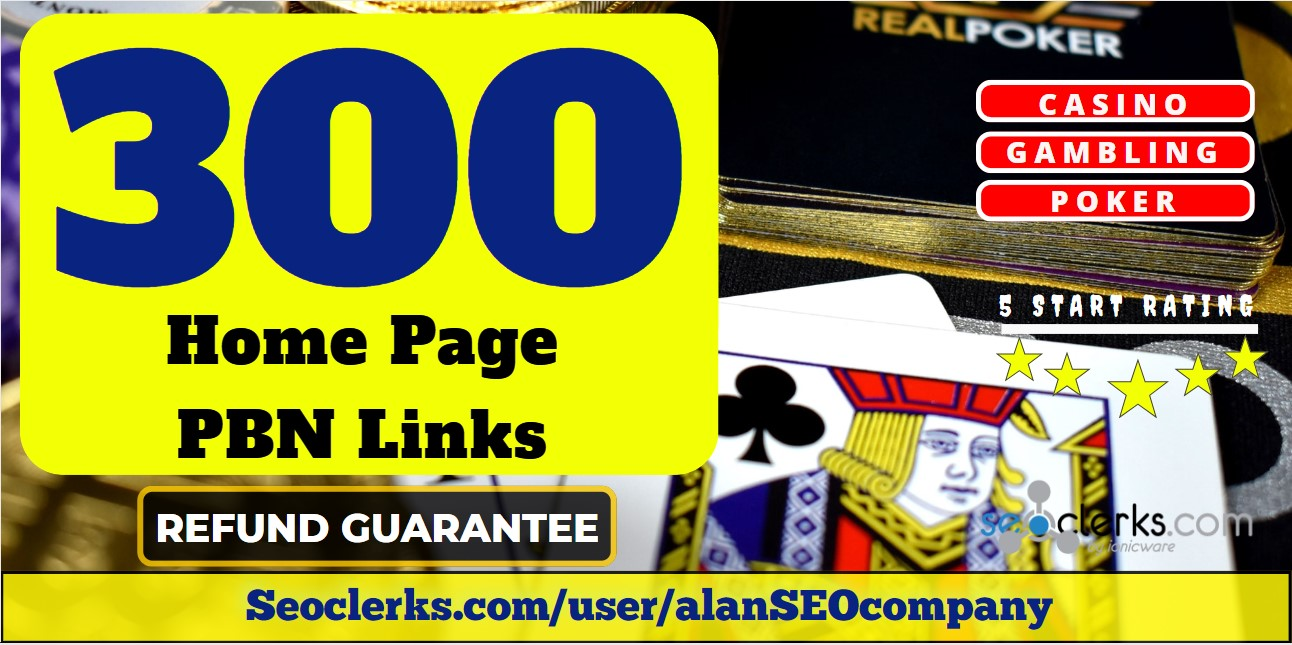 300 High DA/PA 40 Casino Related PBN Links