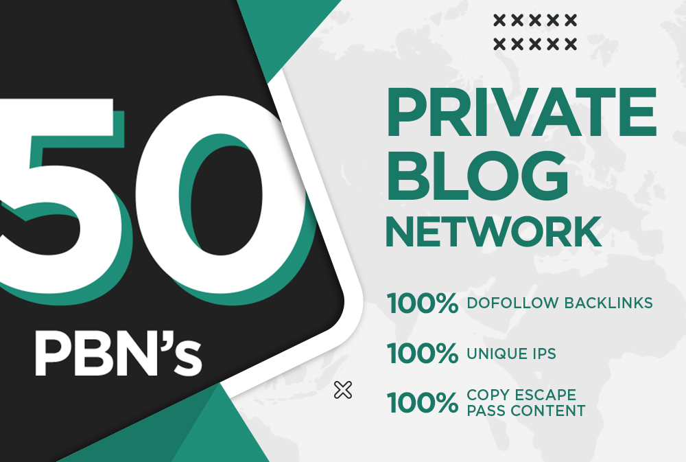 50 PBNs Quality of backlinks boost your site ranking