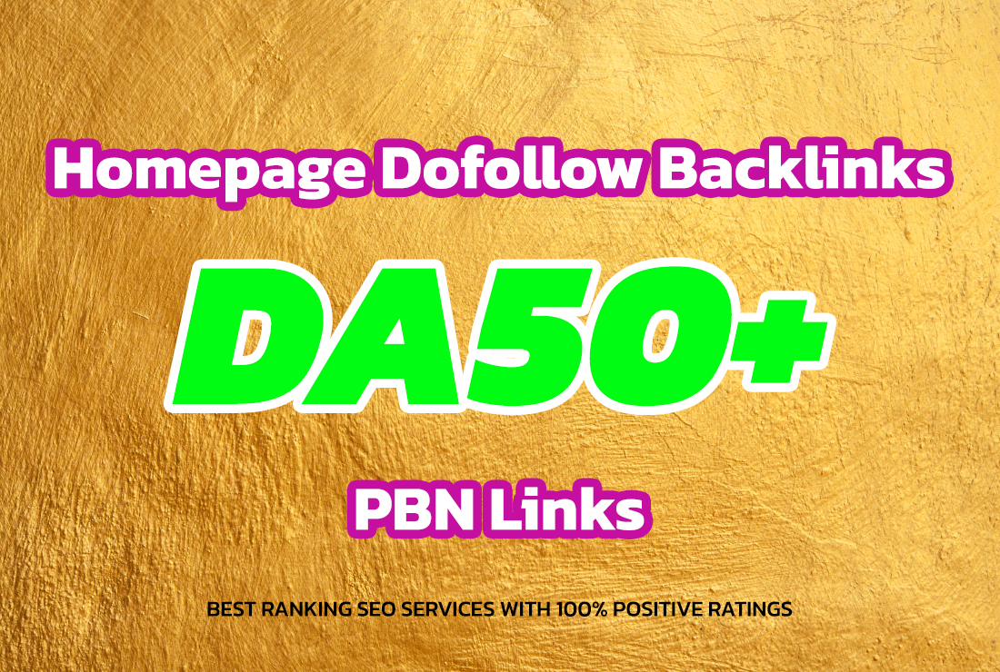 build 25 homepage posts da50 plus pbns contextual backlinks