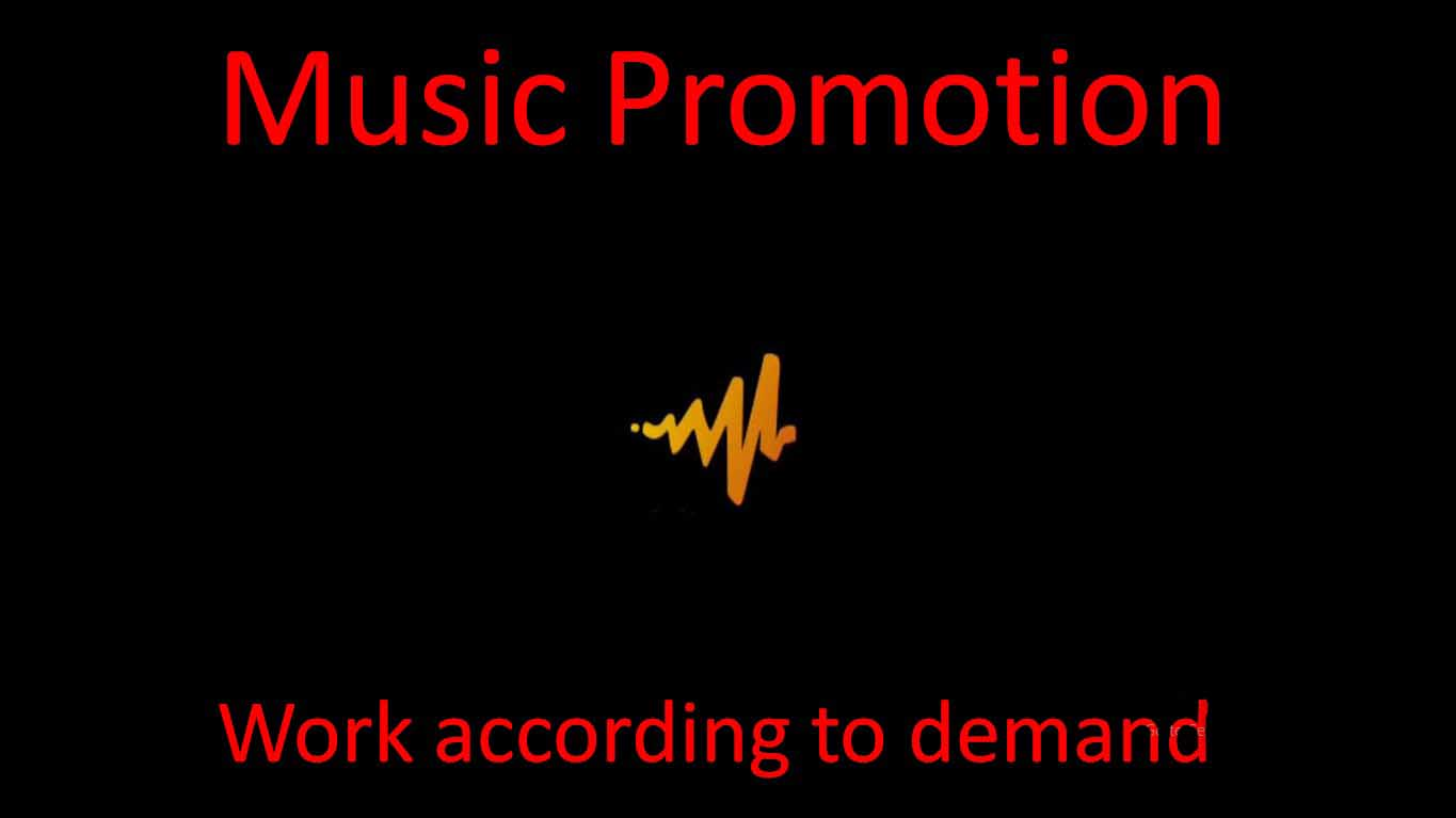 Music promotion according to your work needs