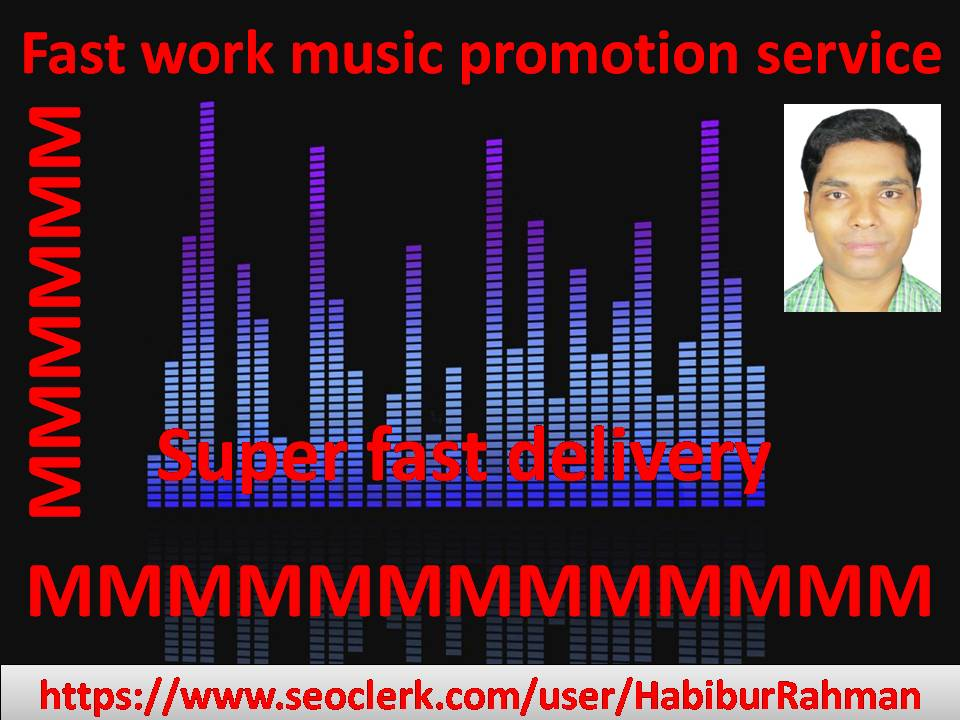 Natural music promotion I will submit fast delivery service in audio & music track or song