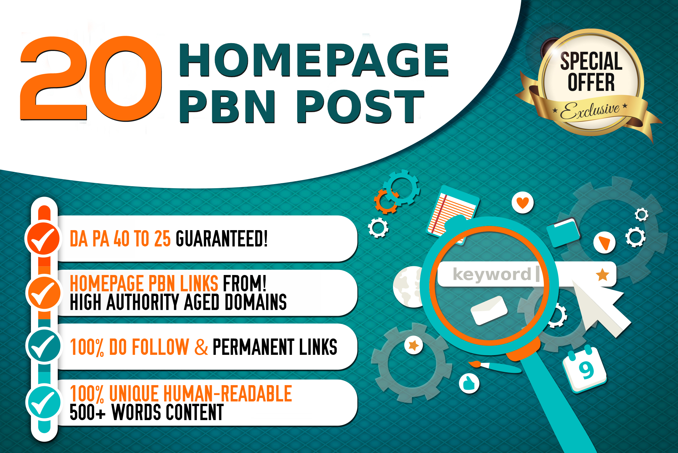 Create 20 PBN DA 40+ BACKLINKS POWER UP YOUR GOOGLE RANKING WITH OUR PBNS