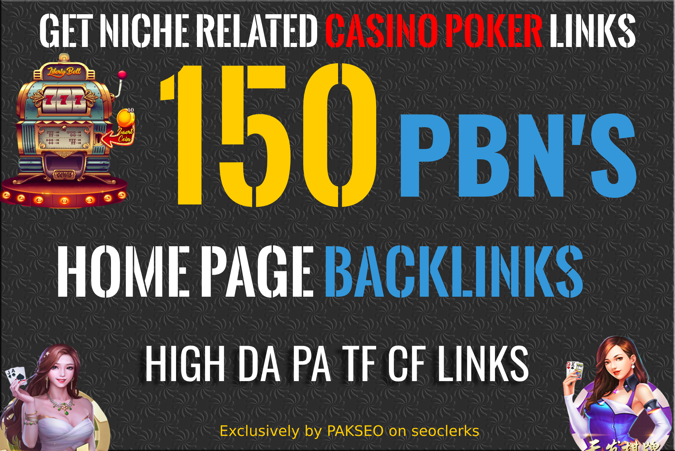 Get 150 Niche Pbn Casino,  Gambling,  Poker,  Judi Bola Related High DA PA Pbns LINKS