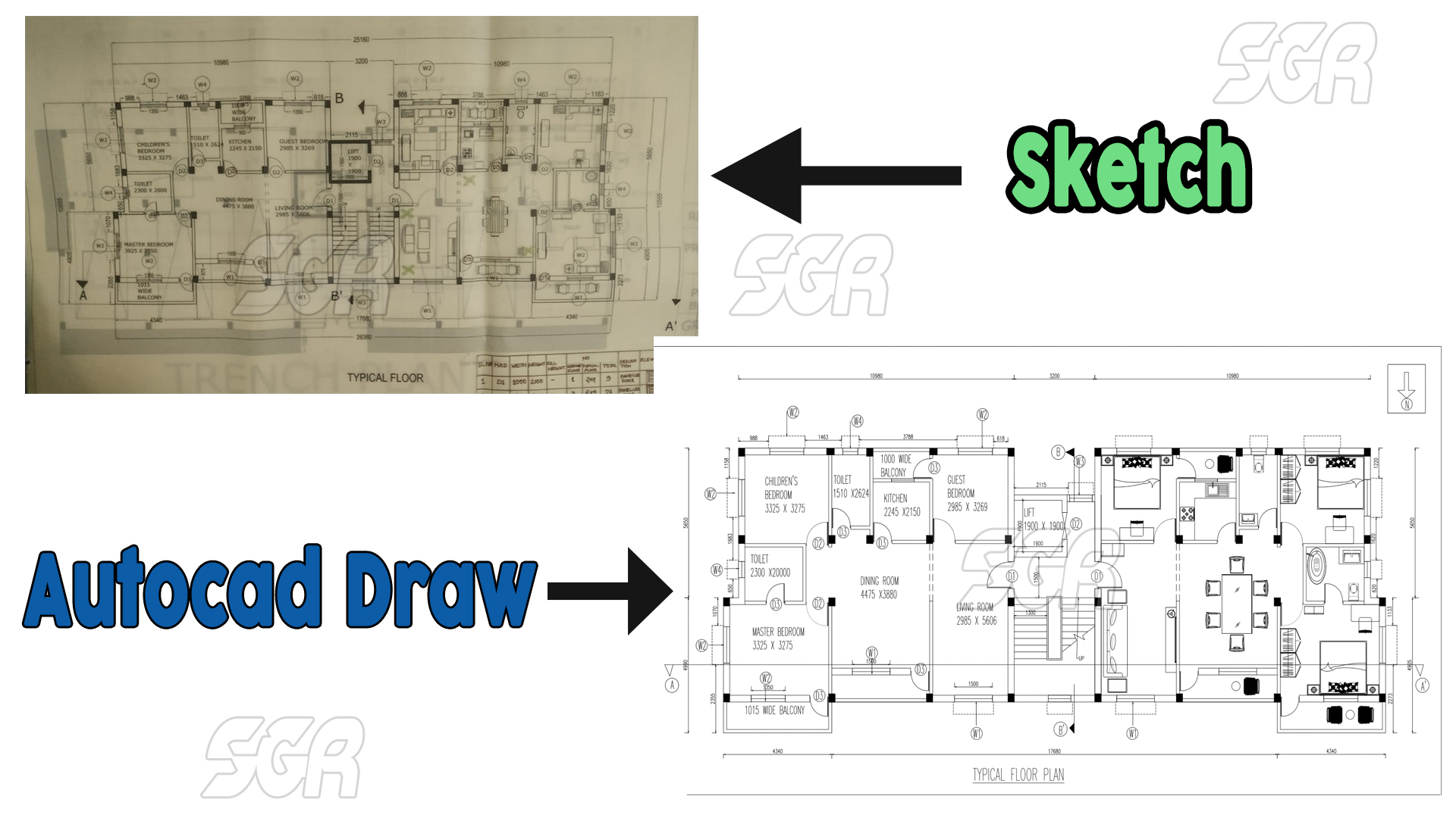 I will do architecture interior design 2d and 3d in autocad
