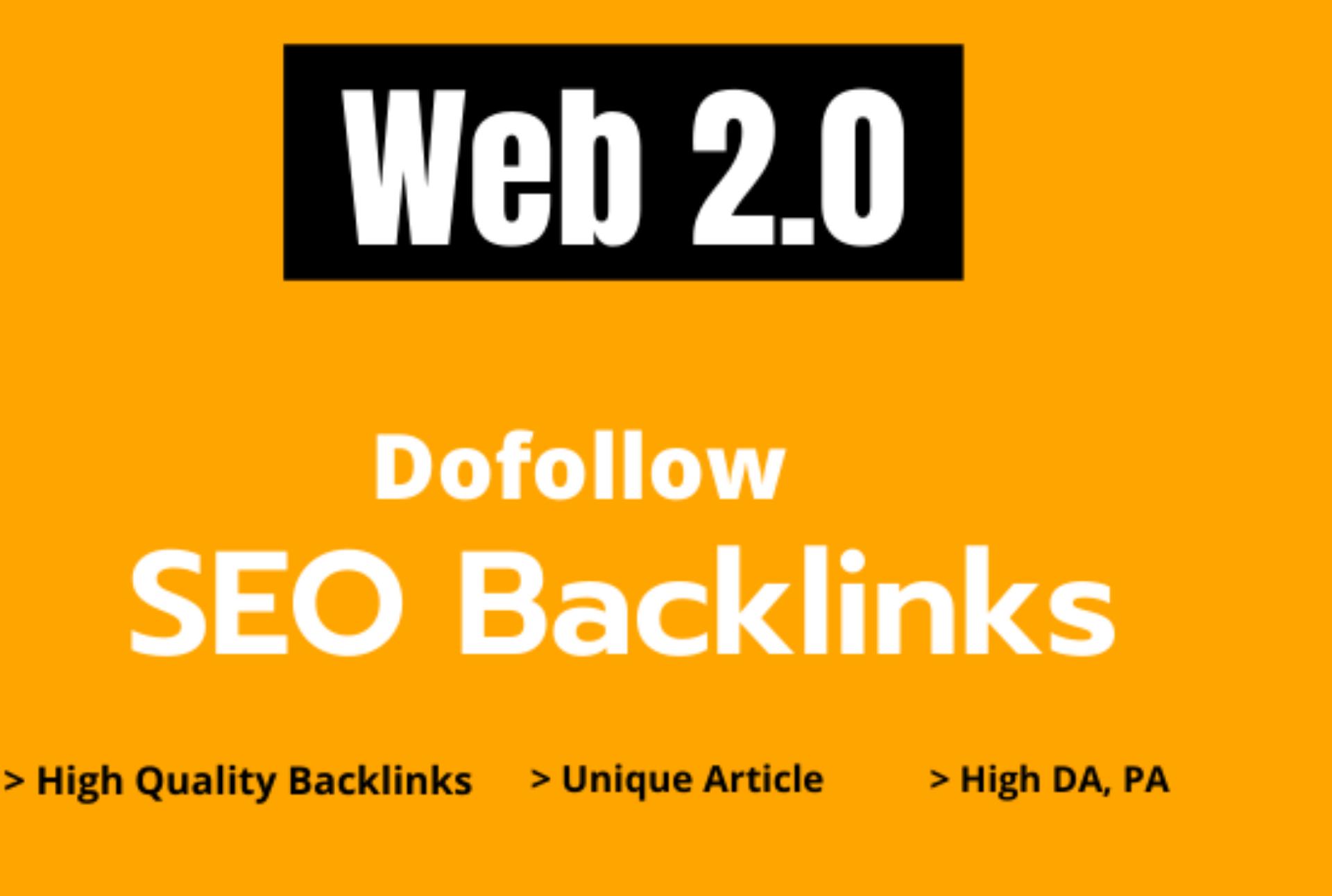 100 High Authority Web 2.0 PBN Dofollow Backlinks