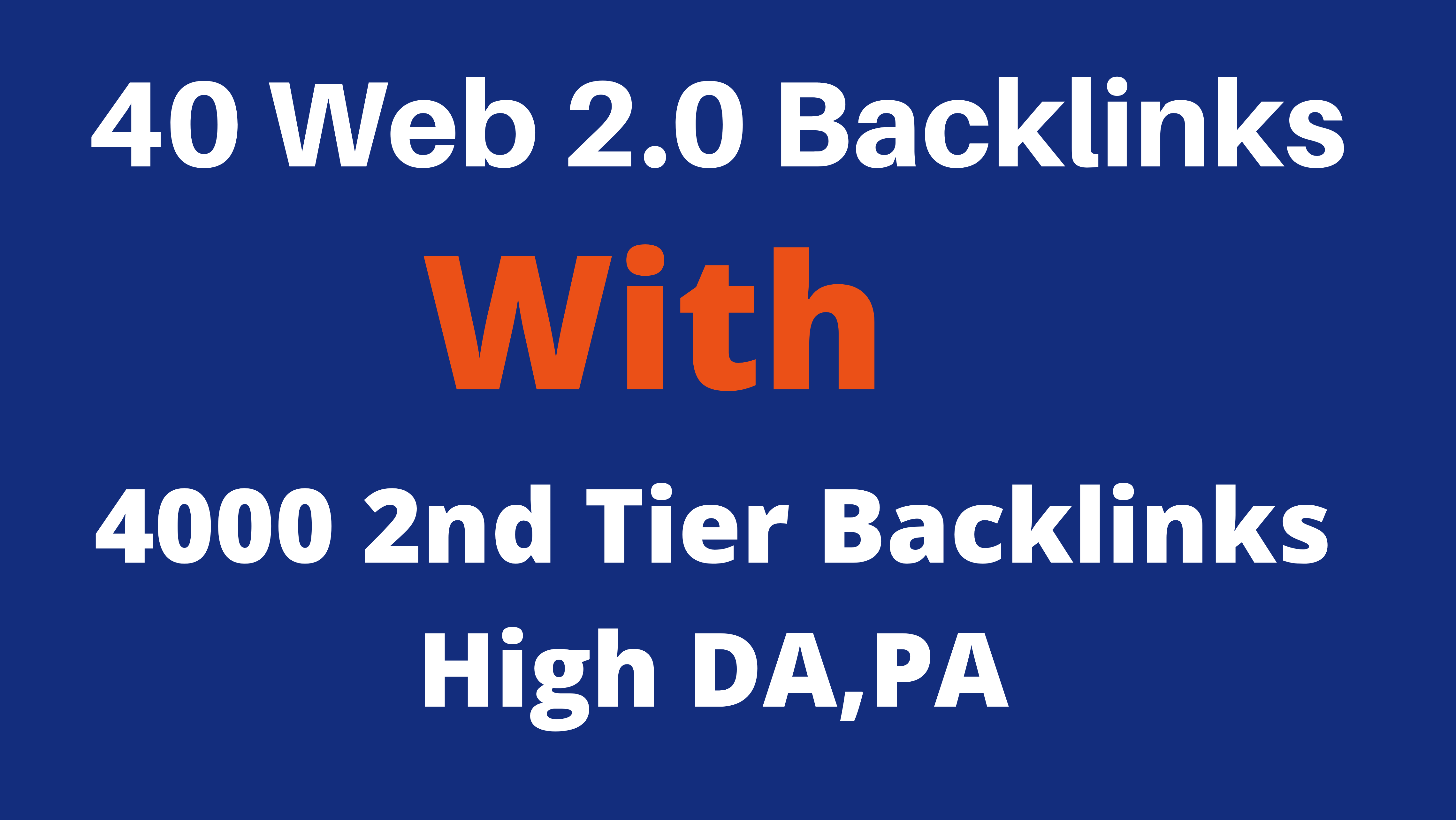 40 Web 2.0 Blog With 4000 2nd Tier Backlinks High DA,PA