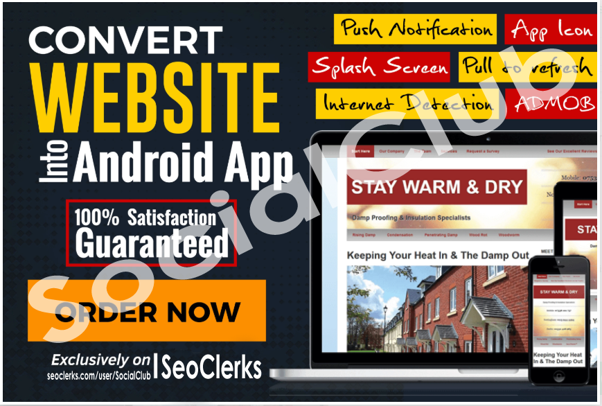 Convert Your Website, Blog, YT Chanel, Fb Page Etc To Android App