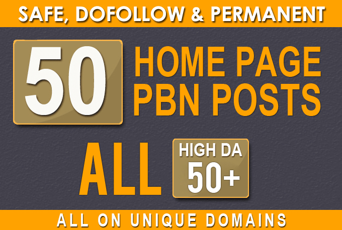 Build, All DA50+ High Quality 50 PBN Backlinks, To Website Improving