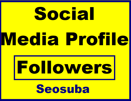 Get Social Profile Followers High Quality Promotion with Non Drop Guaranteed