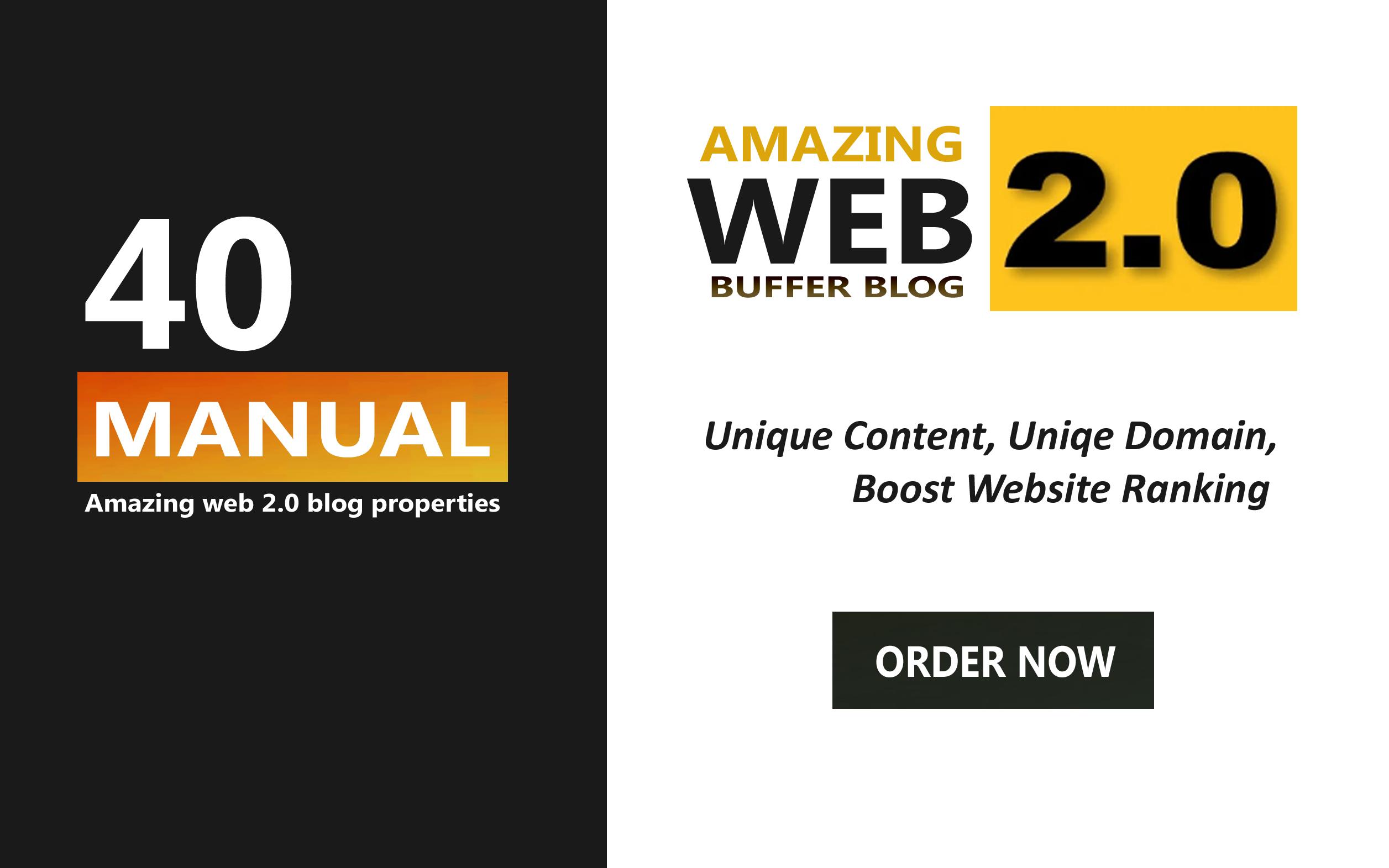 Create 40 amazing web 2.0 Backlinks