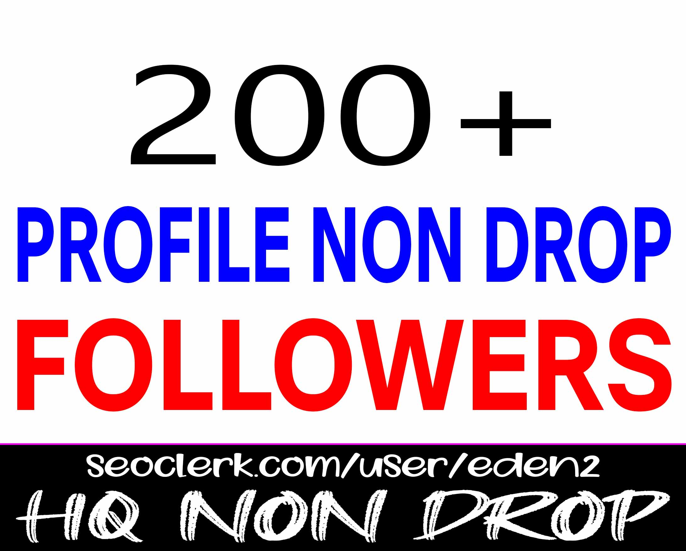ADD 200+ PROFILE FOLLOWERS NON DROP AND REAL HIGH QUALITY PROMOTION WITH INSTANT START