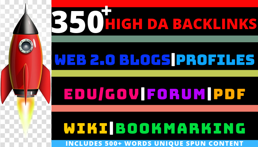 350+ High DA Backlinks. All-In-One SEO Pack.