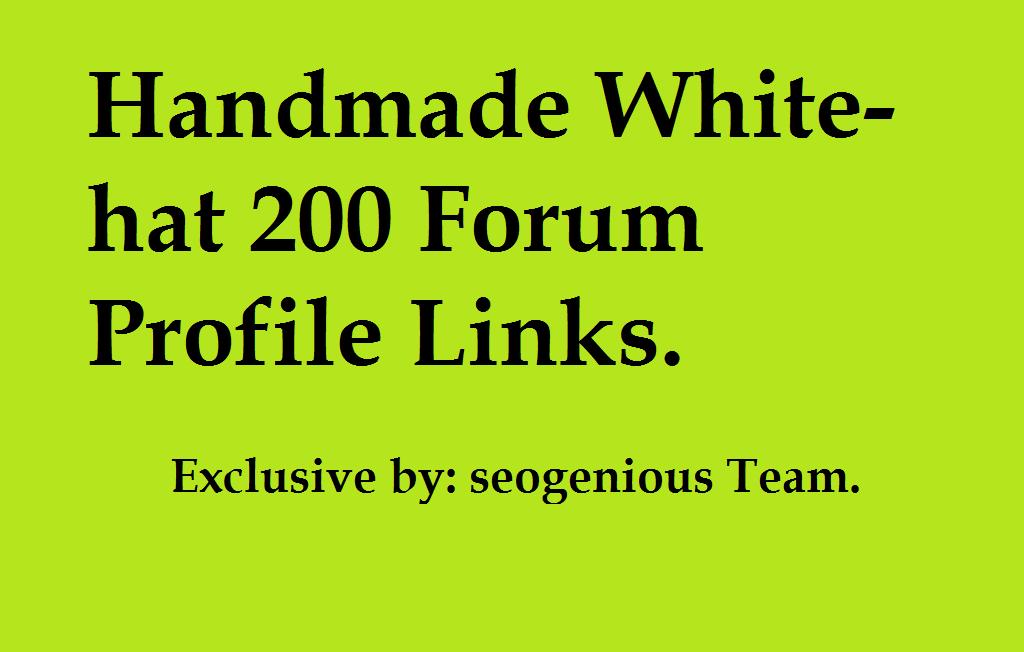 Handmade White-hat 200 Forum Profile Links