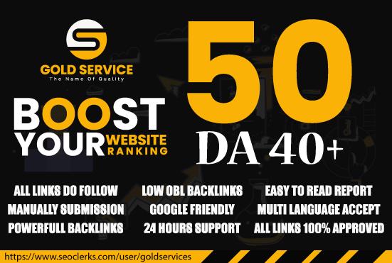 domain authority 40 plus unique do follow blog comments service