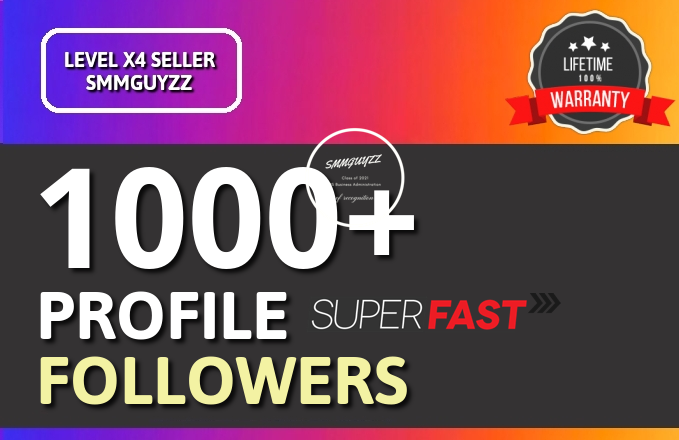 Get 1000+ Social Profile Followers High Quality Promotion