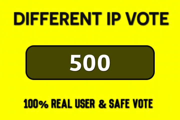 I'll Give 500 Real USA Different IP,  s Online Contest Votes