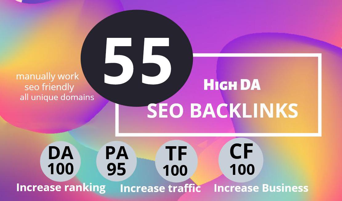 Create manually 55 USA pr9 high da seo backlinks