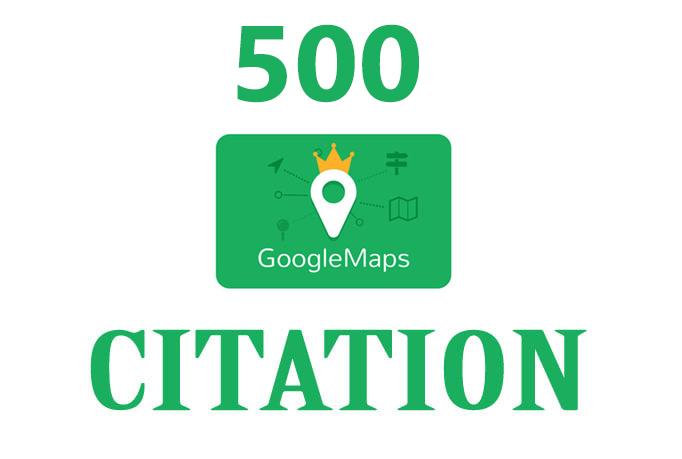 500 google map citations,  get high quality google local SEO backlinks uk usa and more