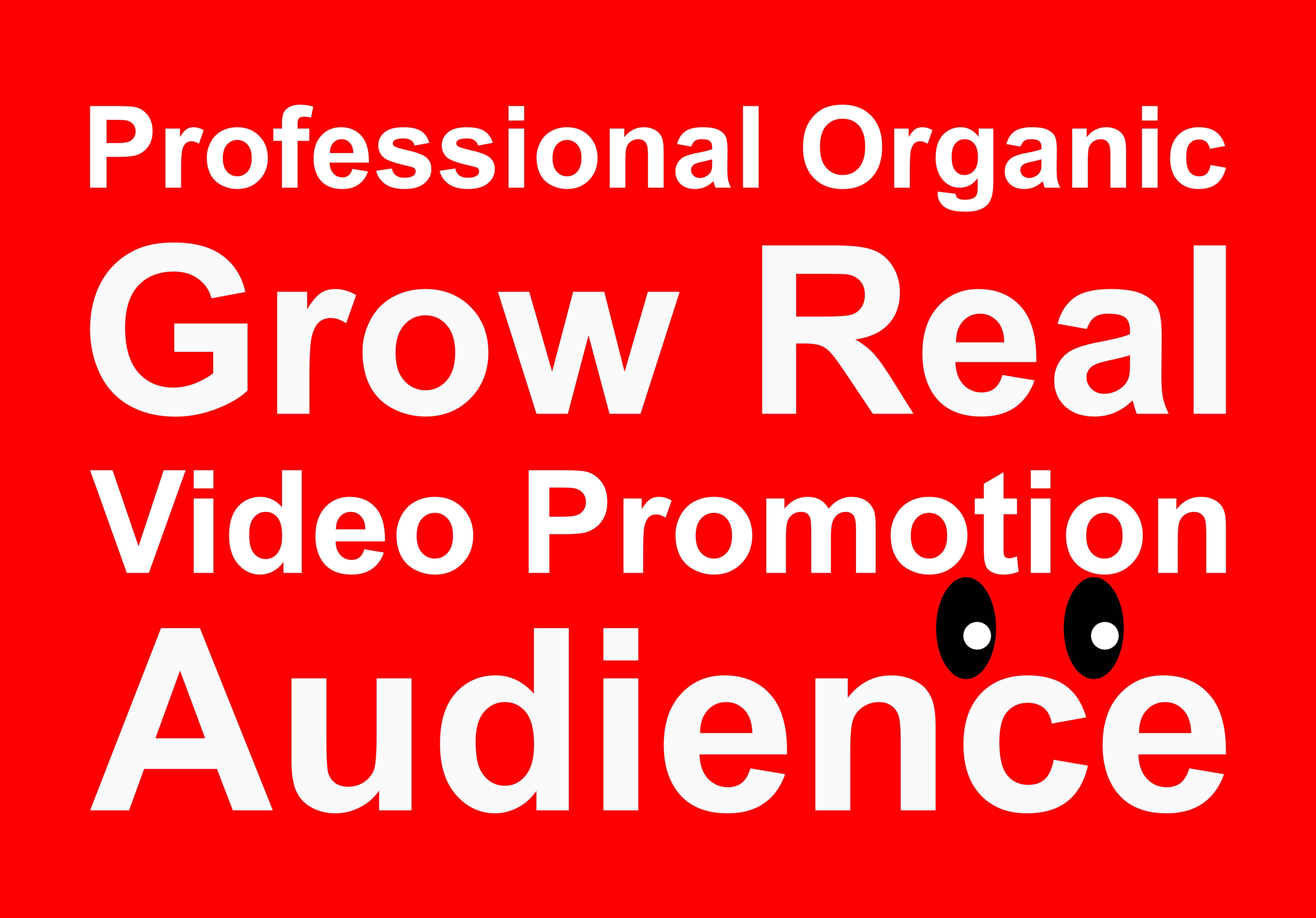 Promote your video to real and organic audience