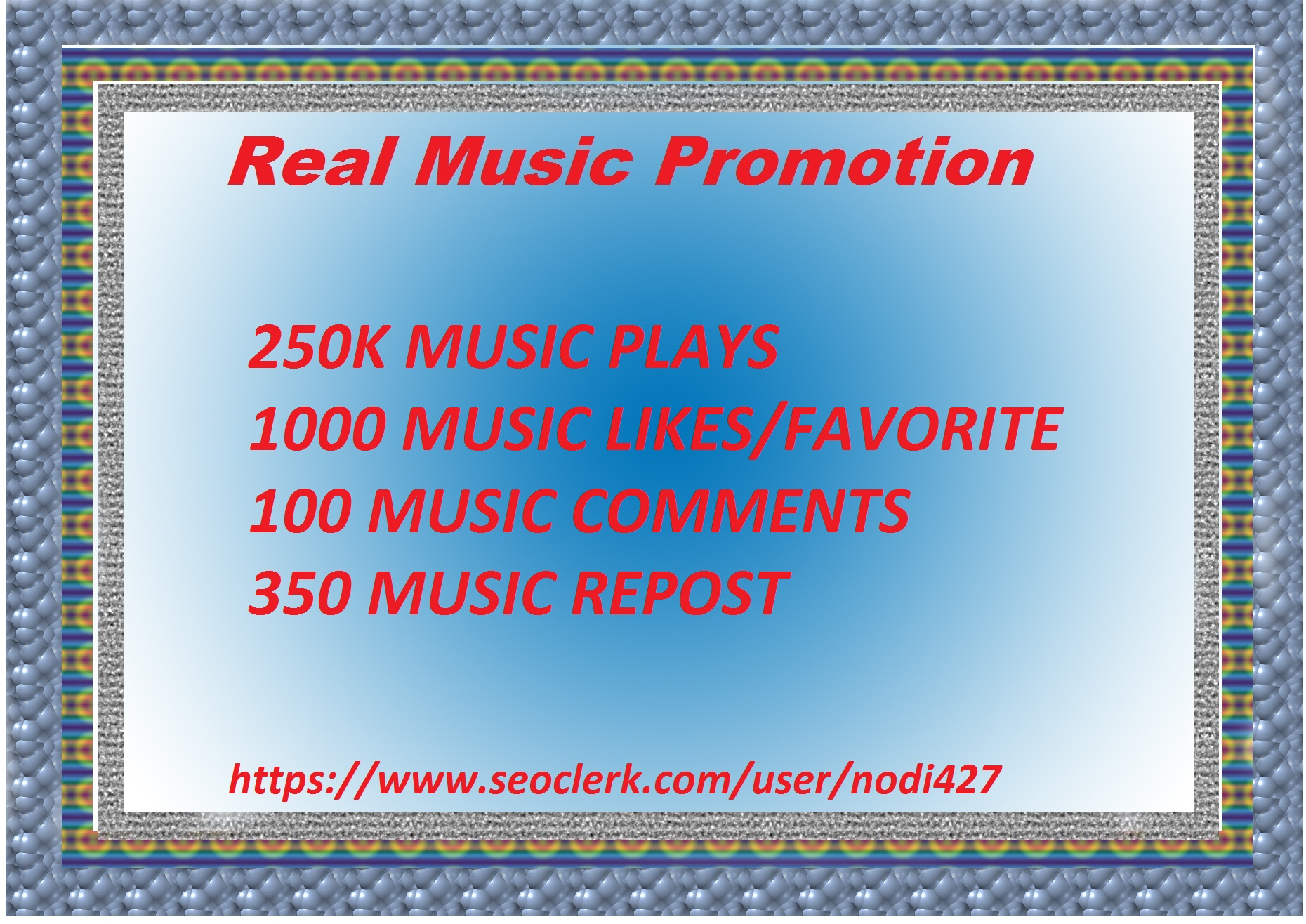 Big Offer High Quality Music promotion