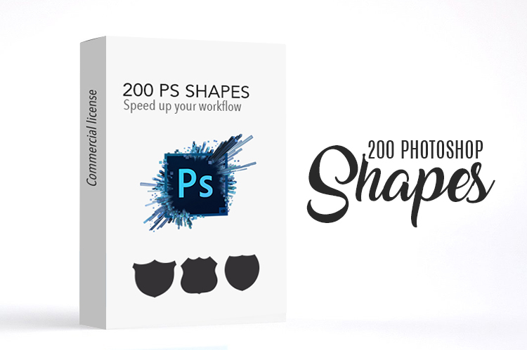 Get 200 Adobe Photoshop Shape Speed up your workflow