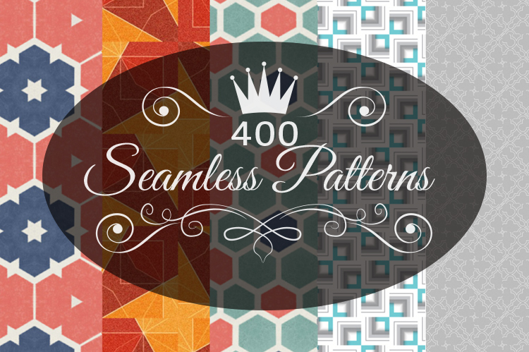 Get 400 Seamless Patterns Speed up your workflow
