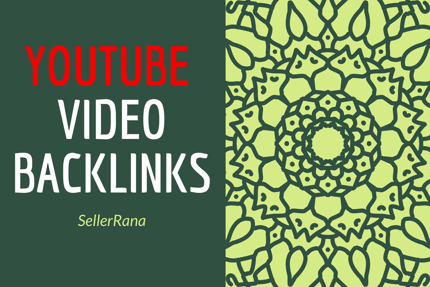 YouTube Video at your YouTube video link back link pack