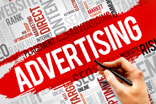 Full page website or business advertising on multiple websites