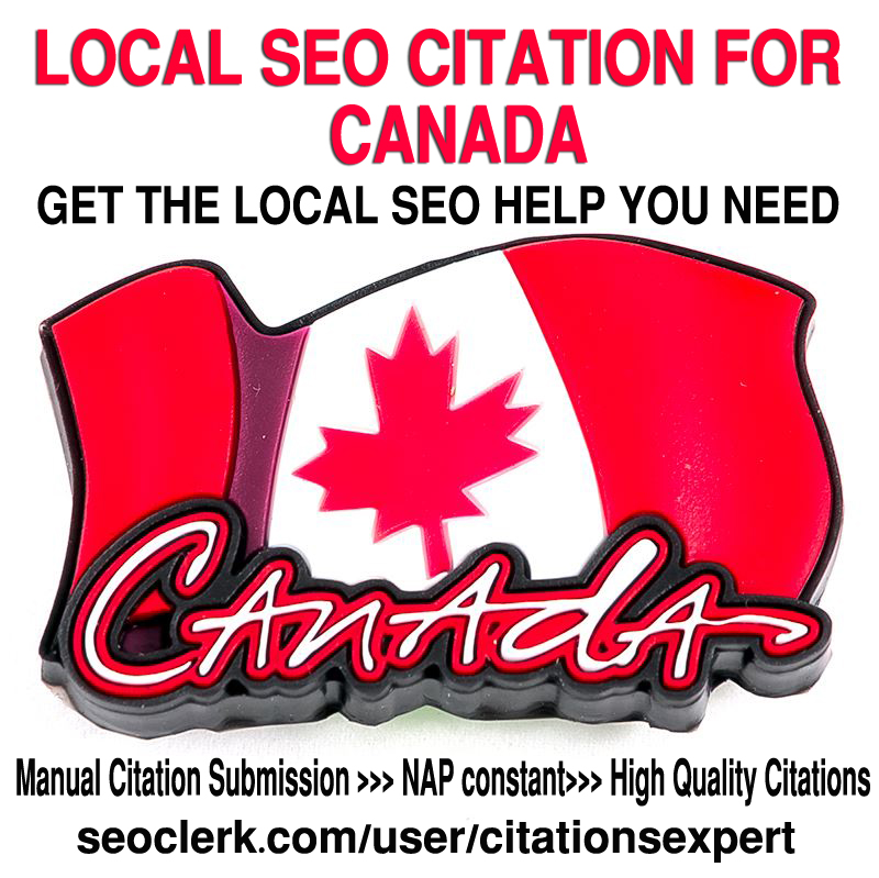 Do Manually TOP 40 Live Local Citations for Canada. Money-Back Guarantee