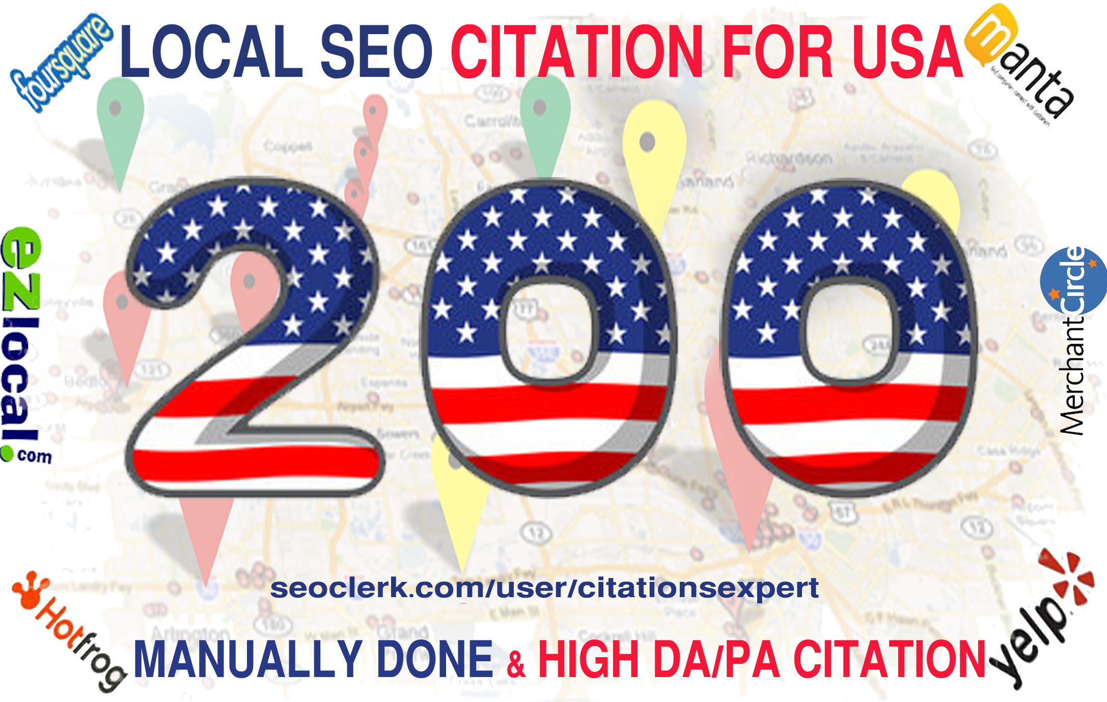 I will Build Manually Top 200 Live USA Local Citation/Listing for Local SEO. Satisfaction Guaranteed