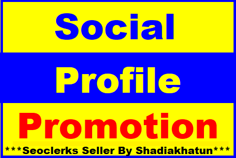 Add Social Media Profile Promotion High Quality Super Fast Delivery