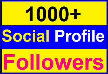 Add 1,000+High Quality Profile Followers Super Fast Delivery