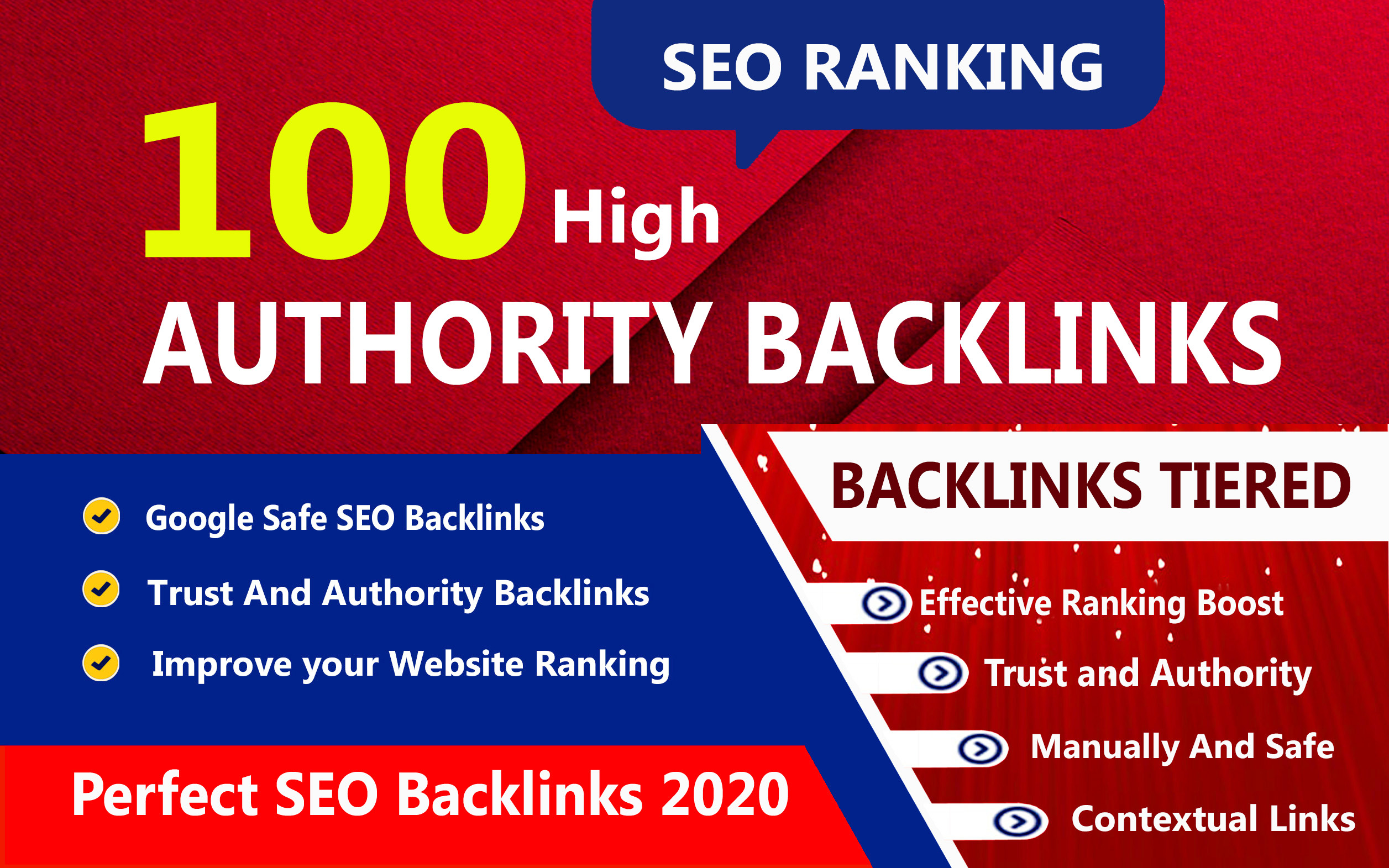 I will create 100 High-Quality Unique Domain SEO Backlink on high PR 100 sites Boost your Website's