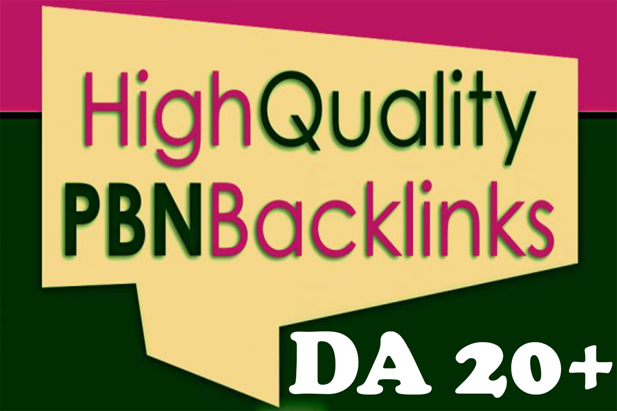 100 Private Blogs Network DA 20+ Homepage Powerful PBN Backlinks