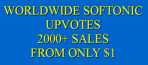 Safe Softonic upvotes promotion instantly