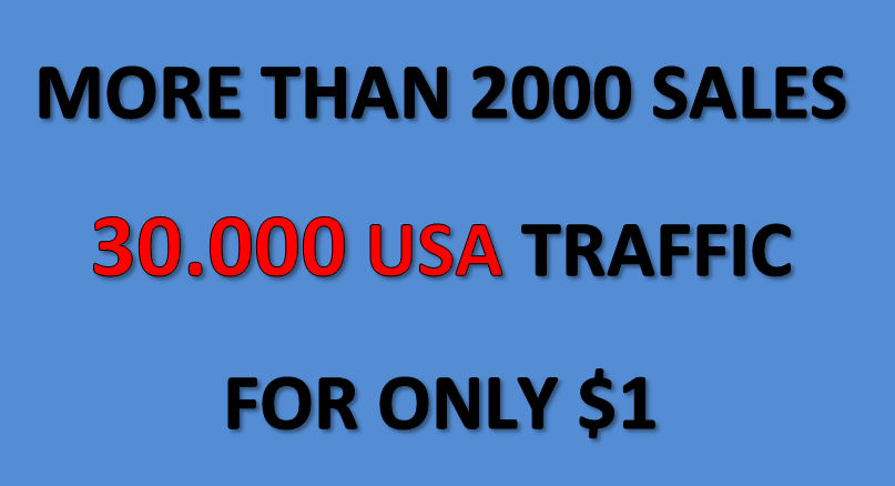 Cheapest offer 30.000 USA targeted traffic