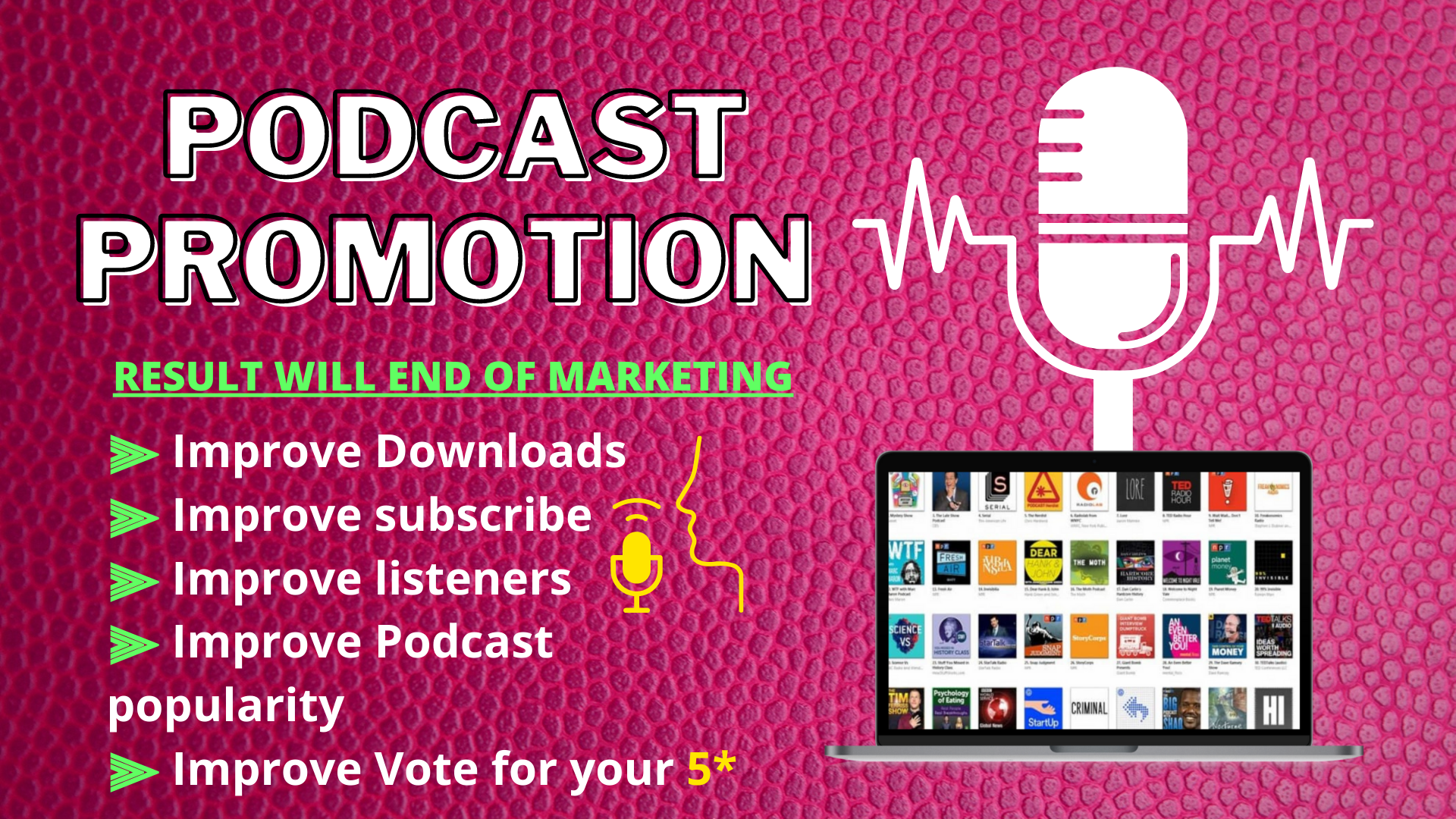 Promote and advertise your iTunes podcast safely from thousands of USA audiences