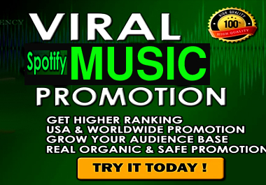 I will do viral and organic music promotion USA and Worldwide listeners